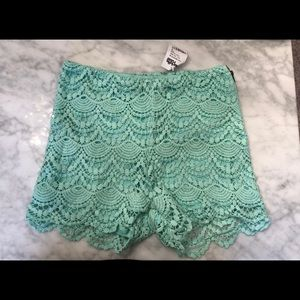 NWT Charlotte Russe lace shorts